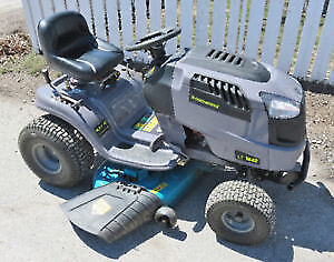 YARDWORKS 16.5 HP (420CC) LAWN TRACTOR - LESS THAN 12 HRS ON IT
