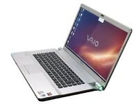 "FAST SONY VAIO VGN-FW48E PCG-3H1M 16.4"" Laptop Core 2 Duo 2.1Ghz 3GB 160GB WIFI"