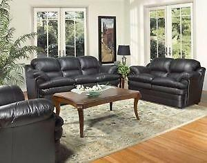 3PC BONDED LEATHER CANDIAN MADE SOFA SET $899