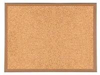 Large Heavy Duty Wooden Frame Cork Notice Board