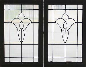 80f0850f9d12 Leaded Glass Window Pairs