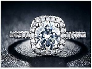 925 Roxi Jewelry Square Ring Engagement Wedding Ring for Women