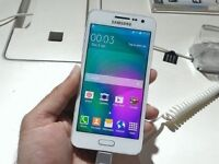 SAMSUNG GALAXY A3 2016 MODEL,16GB WHITE,UNLOCKED TO 02 TESCO AND GIFF GAFF,VERY GOOD CONDITION
