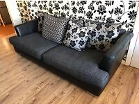 3 Seater DFS Sofa, 1 Swivel Chair & Footstool