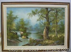 Large Oil Painting on Canvas Signed I. Cafieri