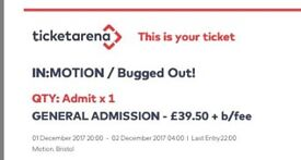 2 tickets for sold out chemical brothers gig on December 1st at Motion