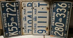 License Plates, mostly Ontario from 1929 t0 1980 100's in total Belleville Belleville Area image 6