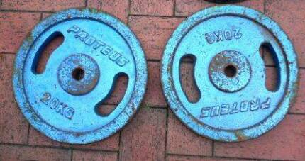40kg weights plates as 20kg x 2 , in very good condition. Marsfield Ryde Area Preview