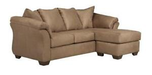 NEW Mocha Sofa Chaise. Reversible.  In stock - take it home today