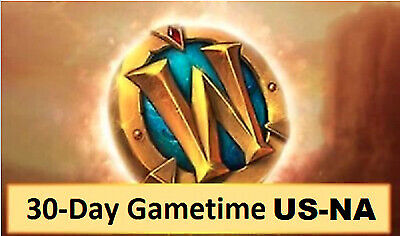 30-Day WOW Game Time Prepaid card - World Of Warcraft - US/Americans servers ERY