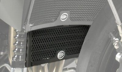 RG RACING OIL COOLER GUARD IN BLACK TO FIT TRIUMPH SPEED TRIPLE R 201