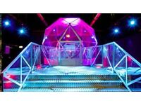 2 x THE CRYSTAL MAZE MANCHESTER TICKETS