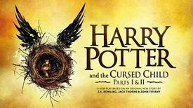 2TICKETS FOR HARRY POTTER 14TH DECEMBER PART ONE AND TWO. GREAT SEATS. DRESS CIRCLE ALL TOGETHER