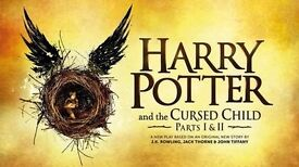 4 x Harry Potter and the Cursed Child Tickets 17 June 2017 Balcony