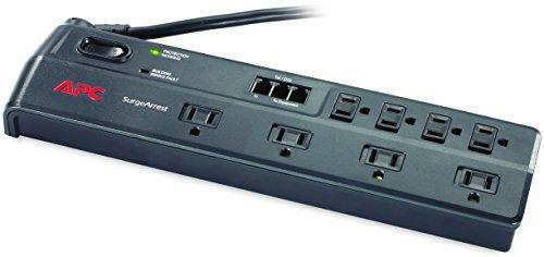 APC Surge Protector with Telephone and DSL Protection, P8T3, 2525 Joules, 8