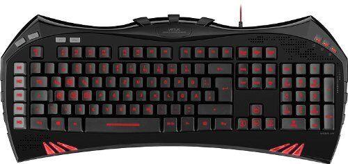 SPEEDLINK VIRTUIS Gaming Keyboard QWERTZ Tastatur USB 3-7-1-8148 Deutsch