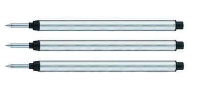 3 - Rollerball Refills for OMAS PEN - BLACK Medium ()