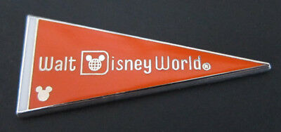 Disney Pin Orange Pennant COMPLETER - 2010 Hidden Mickey WDW Pennant -