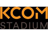 Match-Day Concourse Staff - KCOM Stadium - No Experience Necessary