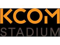 KCOM Stadium - Match Day Till Staff Required - No Experience Necessary