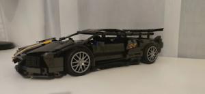 Black Lamborghini Murcilago building block car