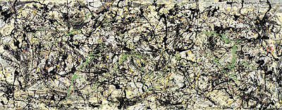 Lucifer Jackson Pollock Abstract Contemporary Lines Print Poster 40x20