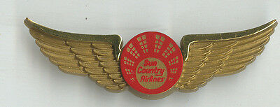 Sun Country Airlines Us Plastic Wings Badge