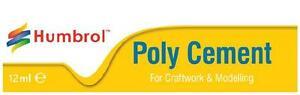 Humbrol Poly Cement Glue Tube For Plastic Model Kits / Airfix Models 12ml