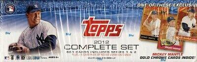 2012 Topps Baseball Complete Factory Set + 5 Bonus Rookies + Mantle Gold Chrome!