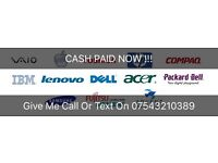 Wanted Laptops Ultrabook iMac Macbook Air/Pro CASH PAID NOW