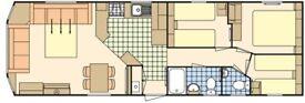 FOR SALE Holiday caravan at Hoburne Bashley, New Forest, Hampshire 2015 model 3 bedrooms