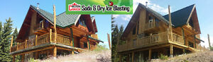Log Home + Property Restorations - Soda and Dry Ice Blasting