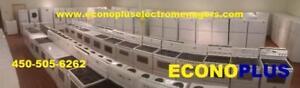 ECONOPLUS LIQUIDATION GRAND CHOIX DE CUISINIERE STANDARD BLANCHE PRIX A PARTIR DE 249.99$ TAXES INCLUSES