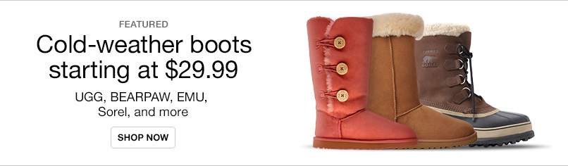 Cold-Weather Boots Starting at $29.99