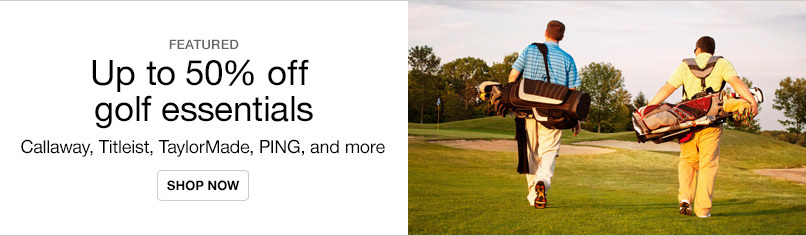 Golf Essentials up to 50% off