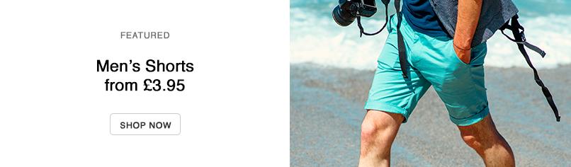 Men's Selected Clothing: Shorts