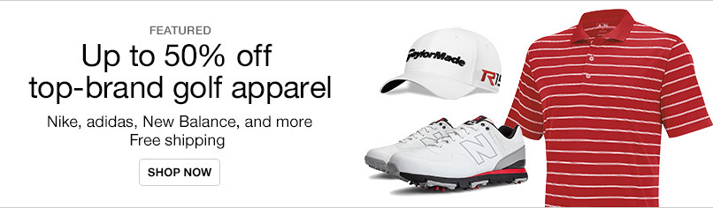 Top-Brand Golf Shoes & Apparel up to 50% off