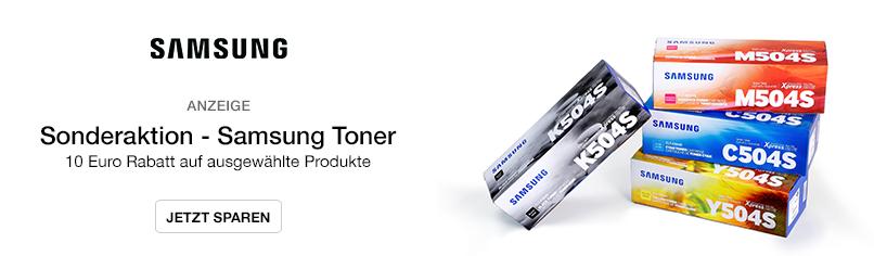 Sonderaktion - Samsung Toner - 10 Euro Rabatt auf ausgewählte Produkte