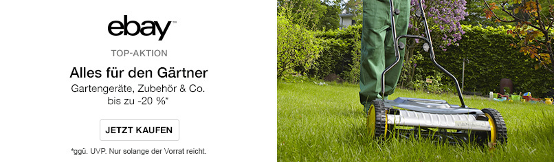 Bis zu -20% auf Gartengeräte