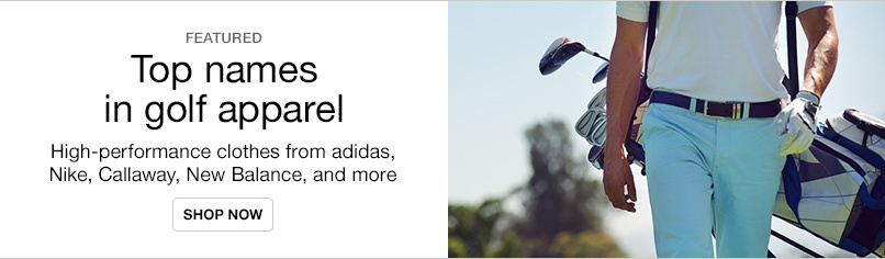 Save on Top Brand Golf Apparel & Shoes