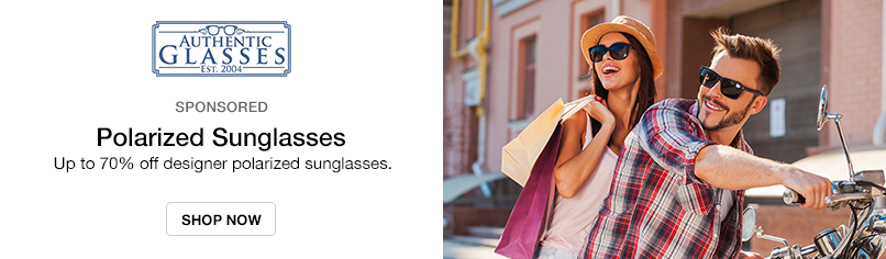 Authentic Glasses: Up to 70% off Designer Polarized Sunglasses