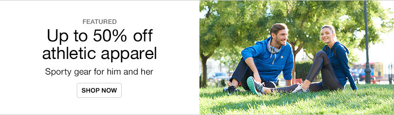 Up to 50% off Athletic Apparel