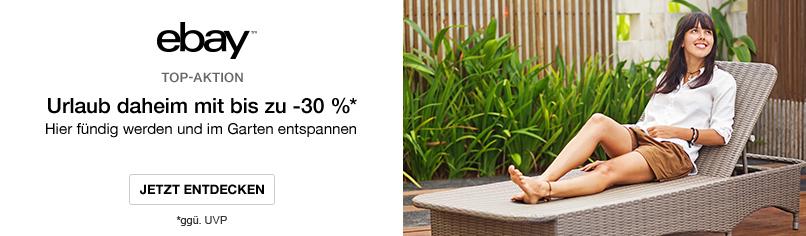Bis zu -30 %* auf Gartenmöbel & Co.
