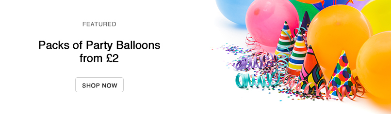 Packs of Party Balloons from £2