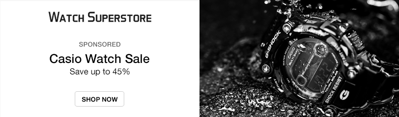 Watch Superstore: Casio Watch Sale - Save up to 45%