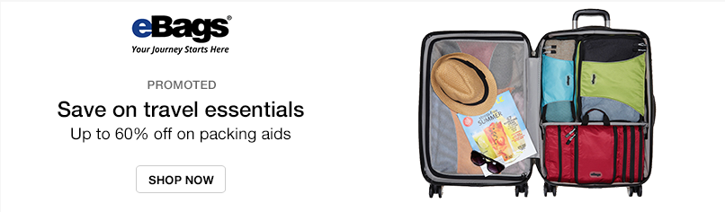 eBags: Save on travel essentials - Up to 60% off on packing aids