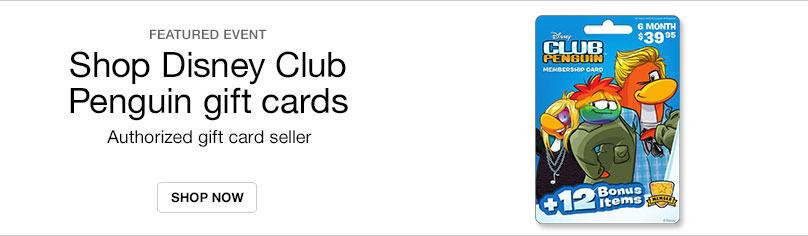 Gift Cards- Penguin Club Disney