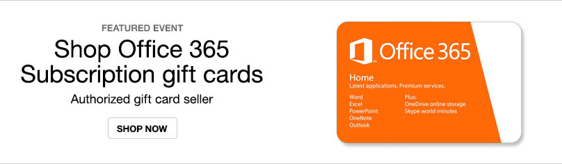 Office 365 Subscription Gift Cards