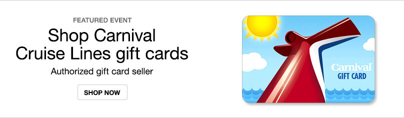 Gift Cards- Carnival Cruise
