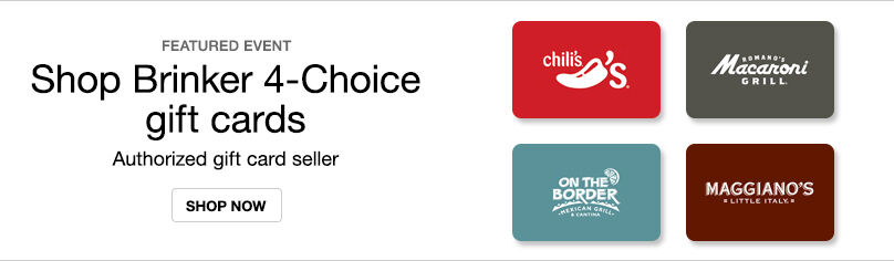 Gift Cards-Brinker 4 Choice